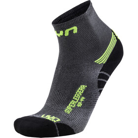 UYN Run Superleggera Socks Men Silver/Yellow Fluo